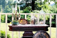 10 vintage cigar bar outdoors on a cool refined table