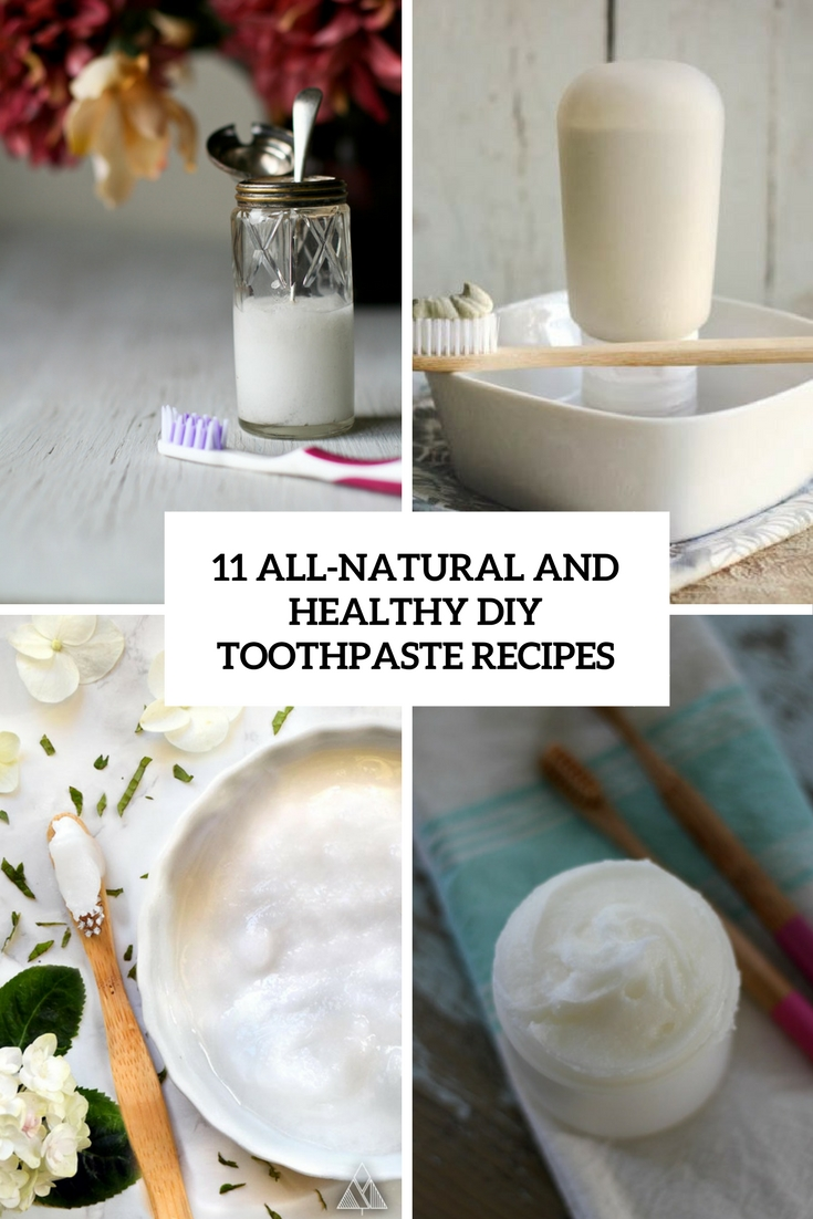 all natural and healthy diy toothpaste recipes cover