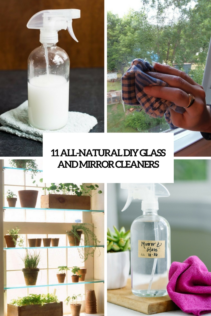 11 All-Natural DIY Glass And Mirror Cleaners