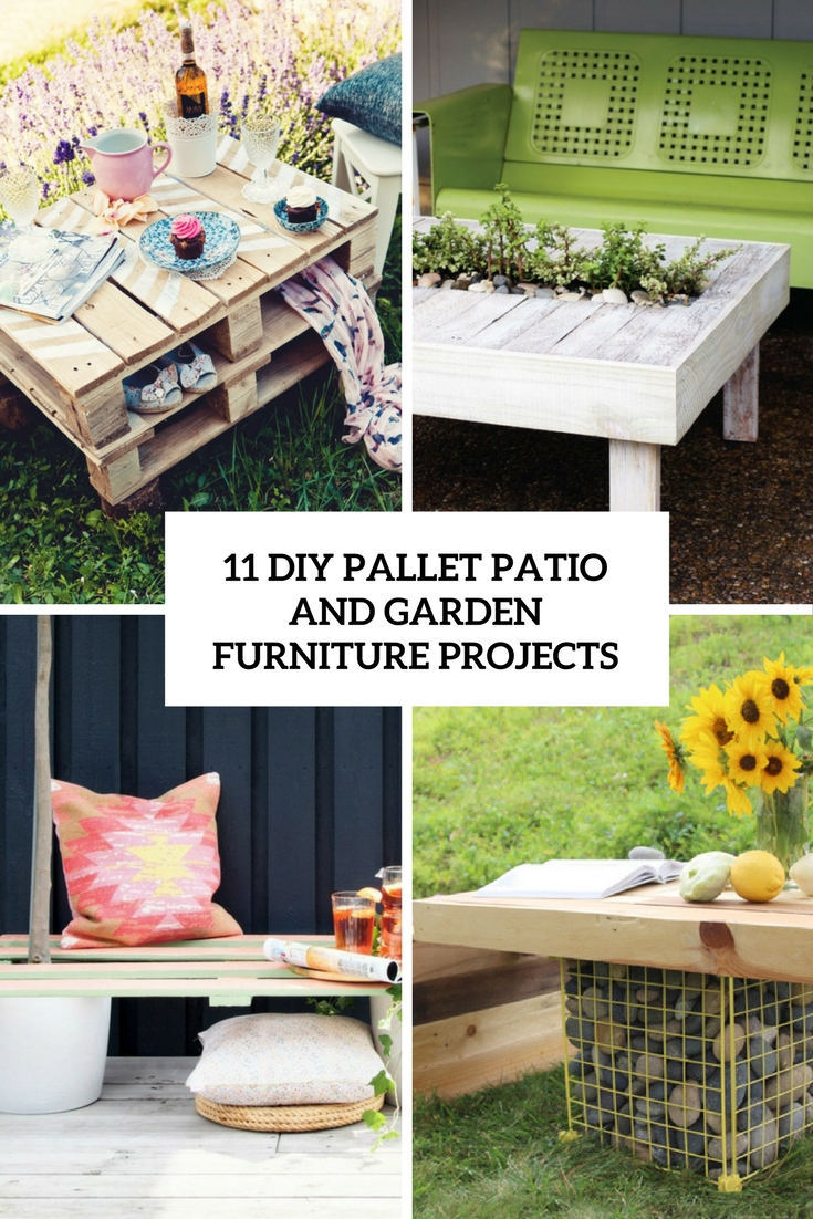 11 Diy Pallet Patio And Garden Furniture Projects Shelterness