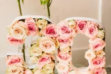 11 these rose-filled numbers are amazing for a girl's party