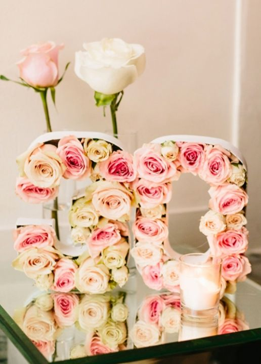 These Rose Filled Numbers Are Amazing For A Girls Party