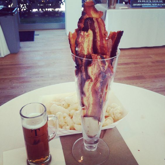 vases with bacon are a great idea for any man's party
