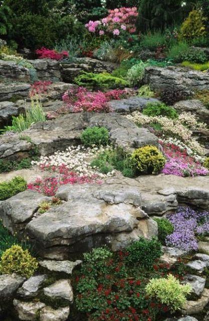 20 beautiful rock garden design ideas shelterness for Rock flower garden ideas