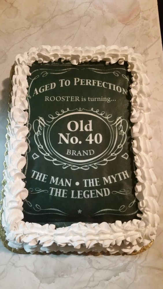 Jack Daniels 40th Birthday Cake Idea