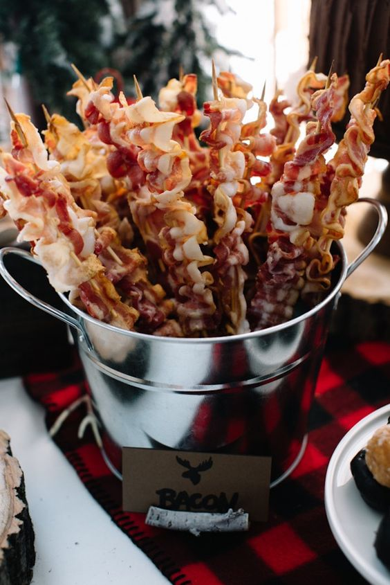 bacon skewers will be a perfect appetizer