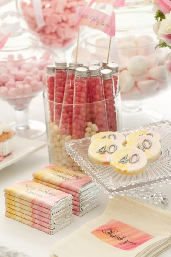 if you are throwing a pink party, why not rock pink desserts