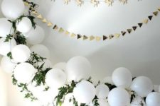16 a balloon arch for the entry way of the terrace for the baby shower
