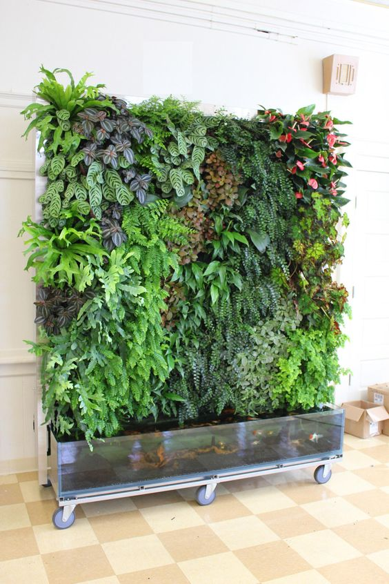 a rolling vertical garden planter can be a show-stopper in any space, both indoor and outdoor