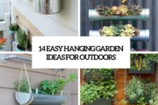18 easy hanging garden ideas for outdoors cover
