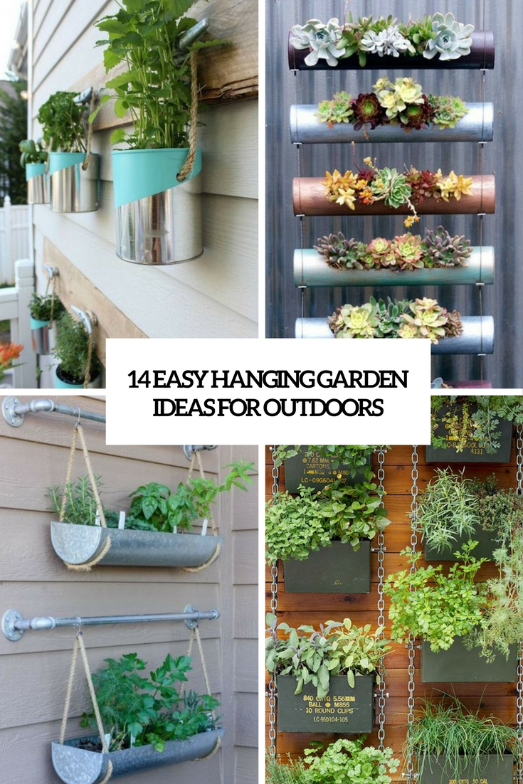easy hanging garden ideas for outdoors cover