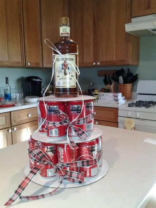 whiskey and Coca Cola birthday cake instead of a traditional one