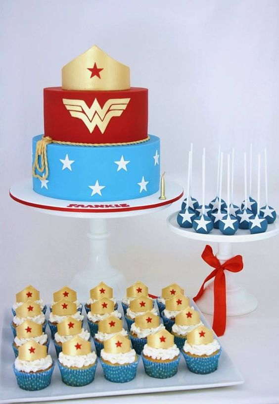 Wonder Woman themed desserts