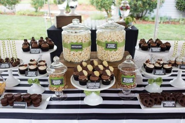 chocolate dessert bar for a man 50th birthday party