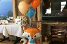 19 fox baby shower balloon decor for a woodland party
