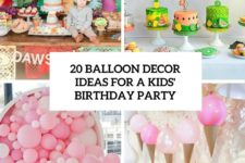 20 balloon decor ideas for a kids birthday party cover