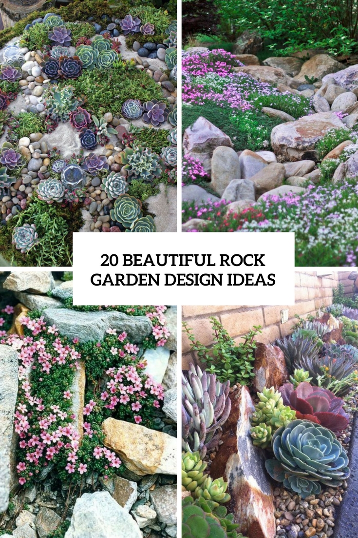 Beautiful Rock Garden Design Ideas Cover