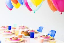 20 colorful balloons over the reception table will excite the kids