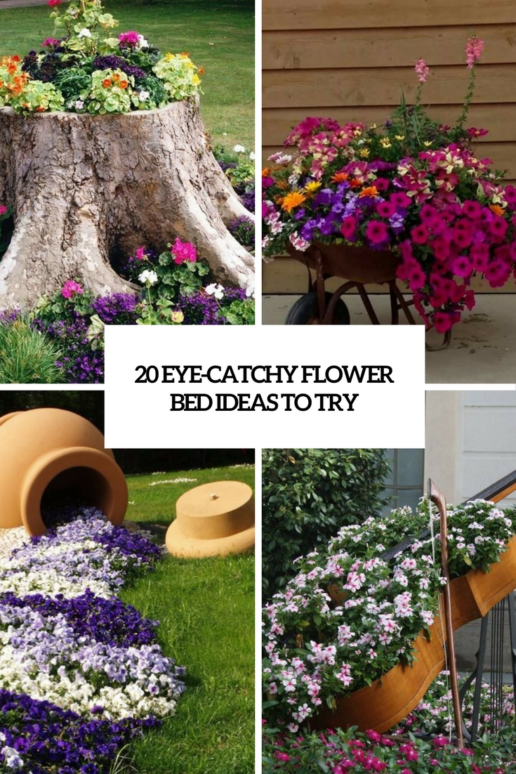 20 eye catchy flower bed ideas to try shelterness for Flower bed arrangements
