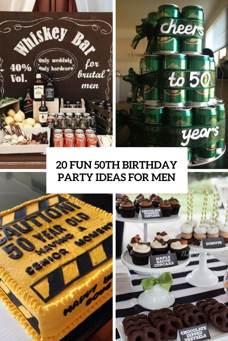 20 fun 50th birthday party ideas for men shelterness for 50 birthday party decoration ideas
