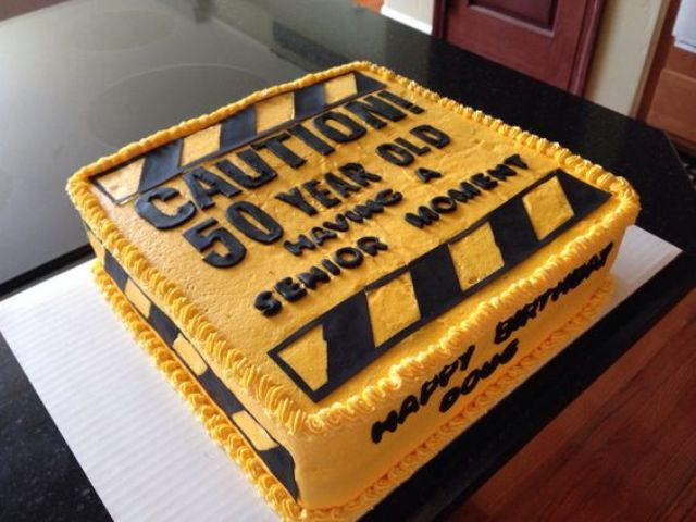 fun and bold 50th birthday cake