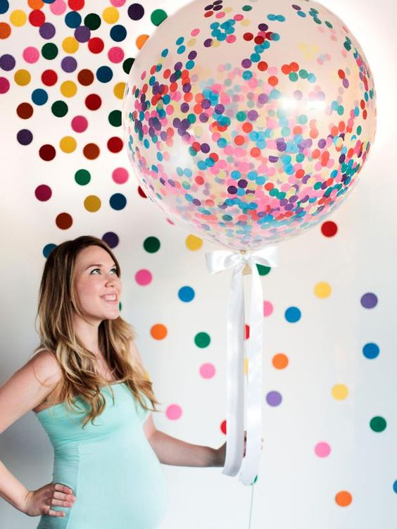 giant confetti balloons are suitable for any gender party