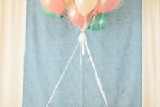 21 hot air balloon decoration for a girl's baby shower