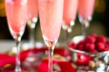 22 raspberry cream mimosas as a signature cocktail