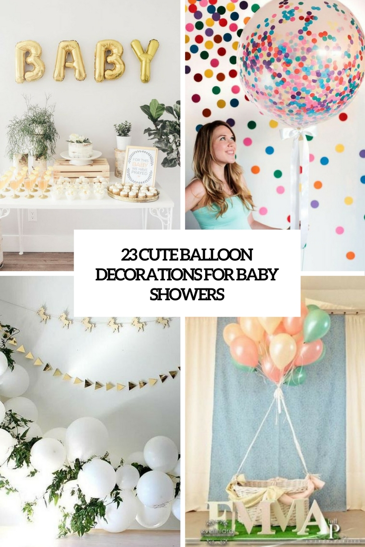 cute balloon decorations for baby showers cover