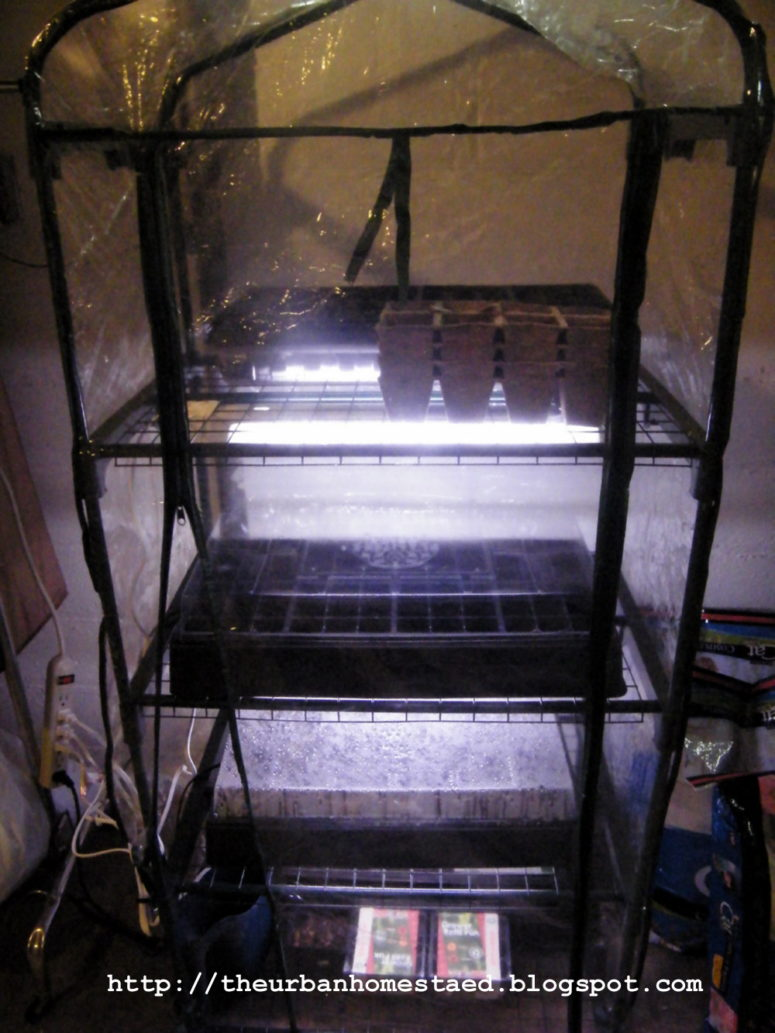 DIY inexpensive seed starting system and greenhouse (via theurbanhomestaed.blogspot.ru)
