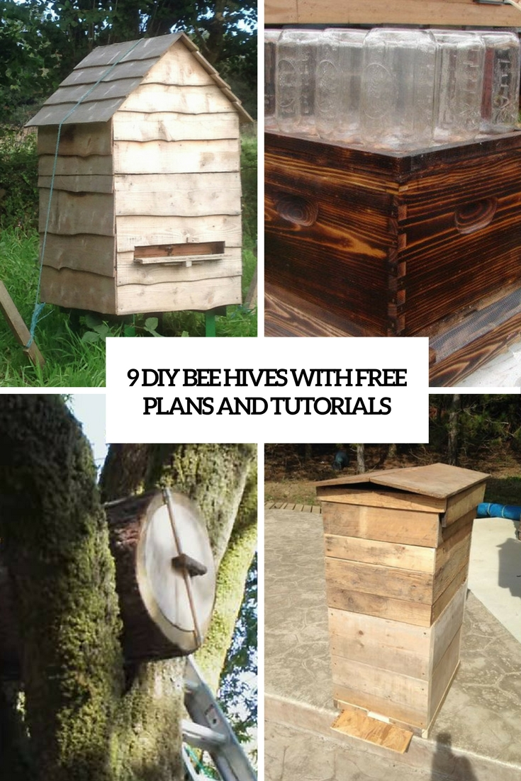 9 DIY Bee Hives With Free Plans And Tutorials