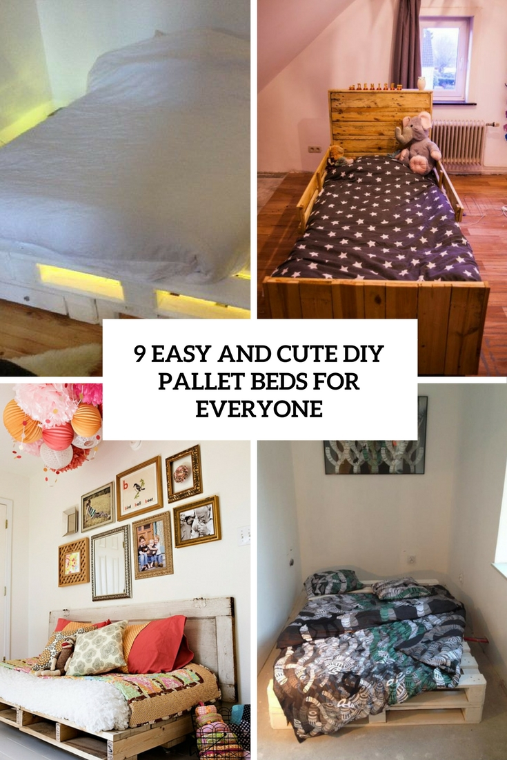 9 Easy And Cute DIY Pallet Beds For Everyone