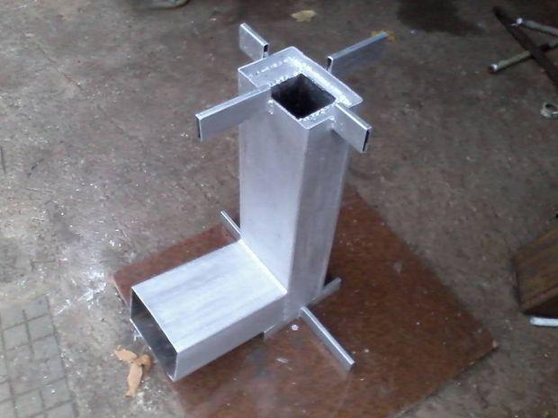 DIY small camping rocket stove of metal