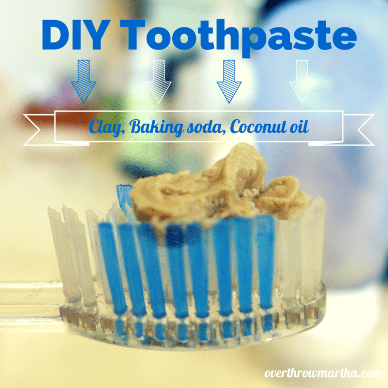 DIY baking soda and clay toothpaste (via www.overthrowmartha.com)