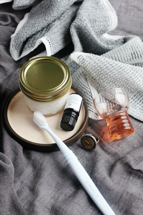 DIY refreshing peppermint toothpaste (via www.styleoholic.com)