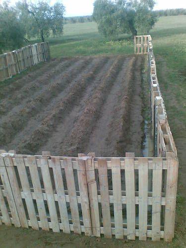 amazing DIY pallet fence (via blessmyweeds.com)