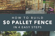 DIY pallet fence in 4 easy steps