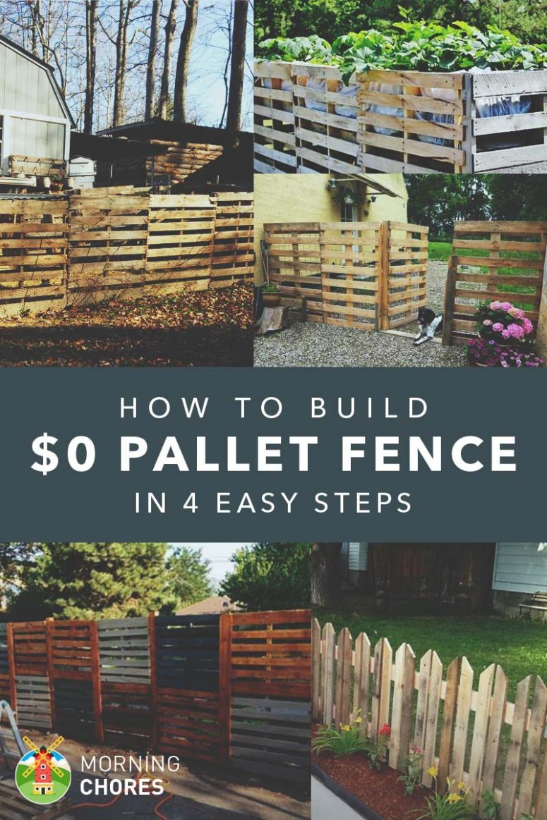 DIY pallet fence in 4 easy steps (via https:)
