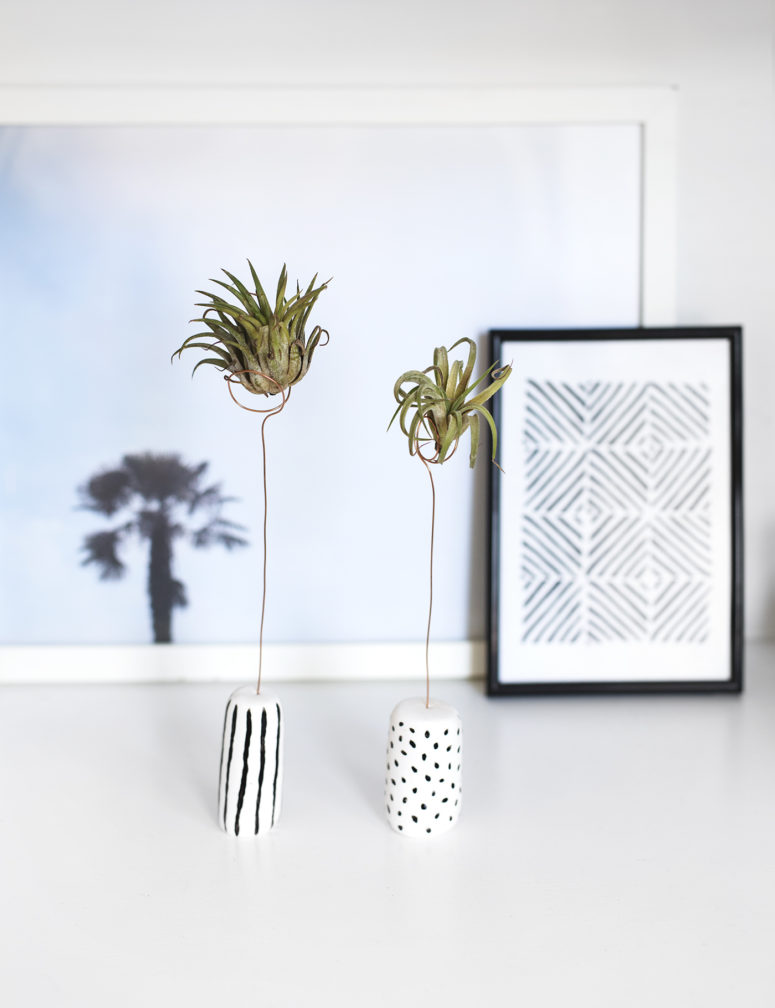 DIY clay air plant holders (via thelovelydrawer.com)