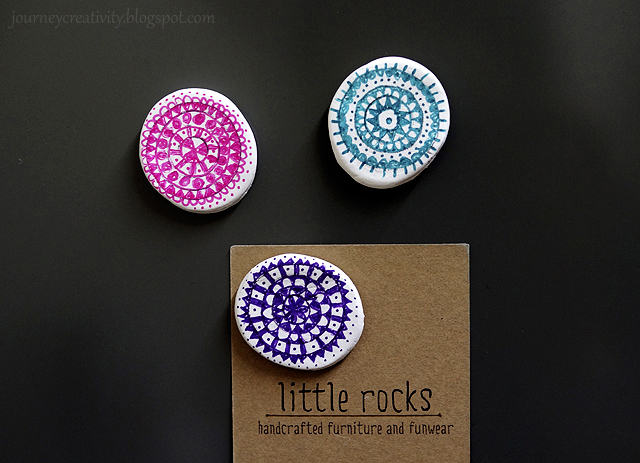 DIY mandala clay magnets
