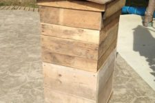 DIY bee hive from old wooden skids