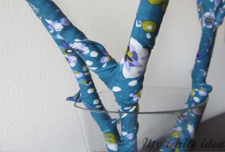 DIY fabric covered branches (via www.mywhiteideadiy.com.es)