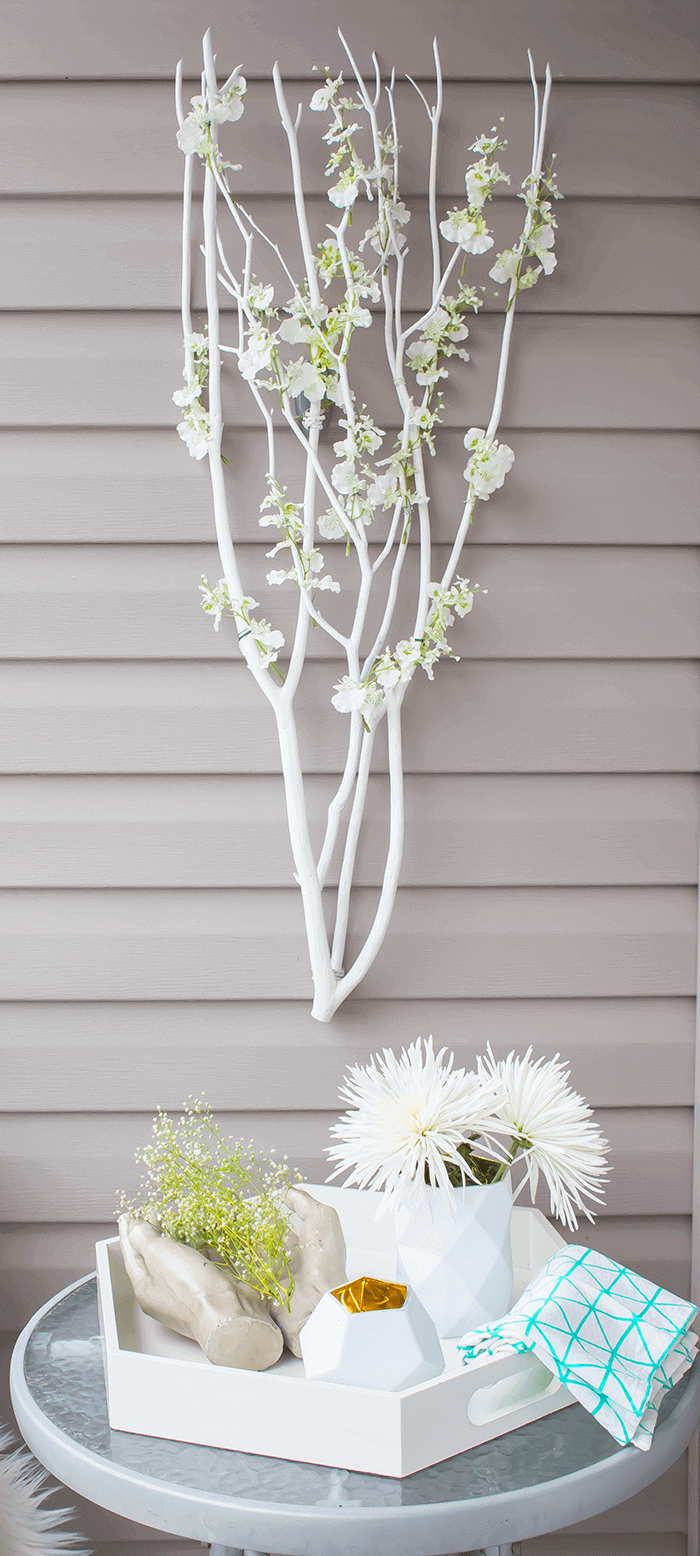 DIY Scandi-inspired blossom branches (via aprettyfix.com)