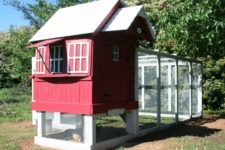 DIY chicken coop from an old playhouse