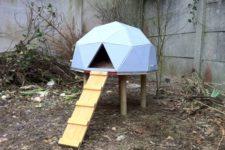 DIY geometric chicken dome