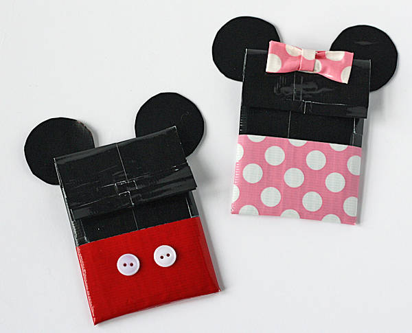 DIY duct tape Mickey and Minnie card holders (via https:)