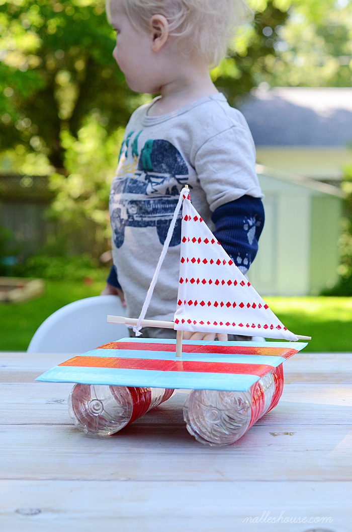 DIY duct tape sailing boat (via www.nalleshouse.com)
