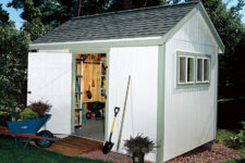 DIY large garden shed from PM plans