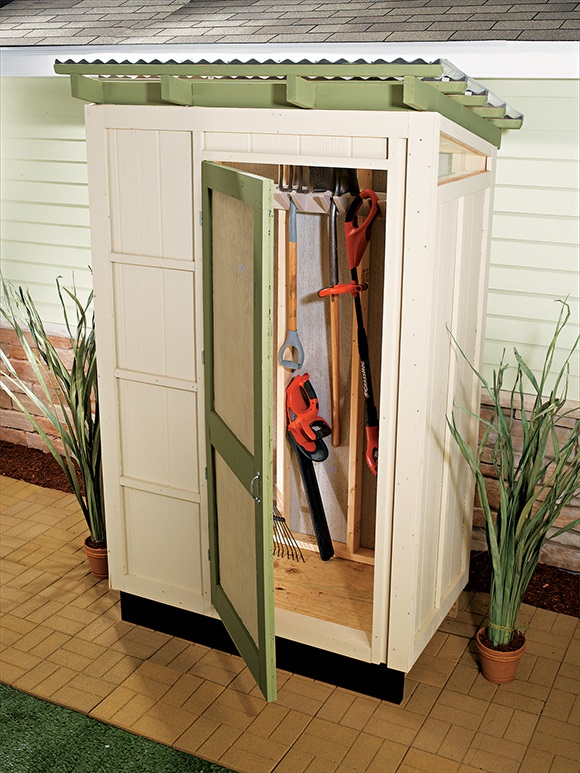 DIY small storage shed (via www.blackanddecker.com)