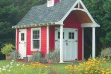 DIY schoolhouse garden shed